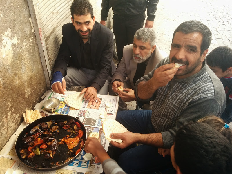 Communal Eating in the bazaars of Sanliurfa