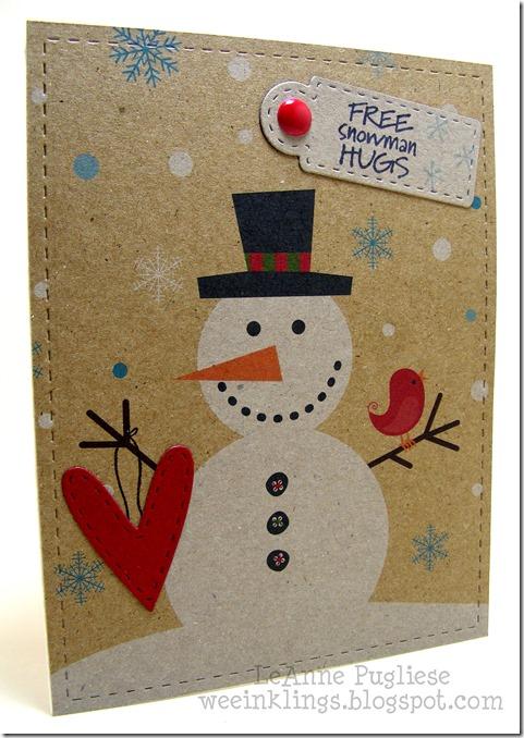 LeAnne Pugliese WeeInklings Free Snowman Hugs Christmas Anna Wight