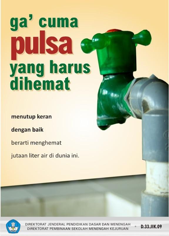 Menutup keran dengan baik berarti menghemat jutaan liter air di dunia ini
