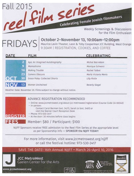 Reel Series flyer
