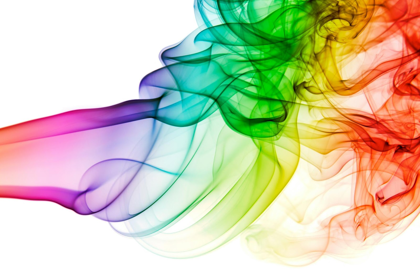 Rainbow smoke abstract backgrounds