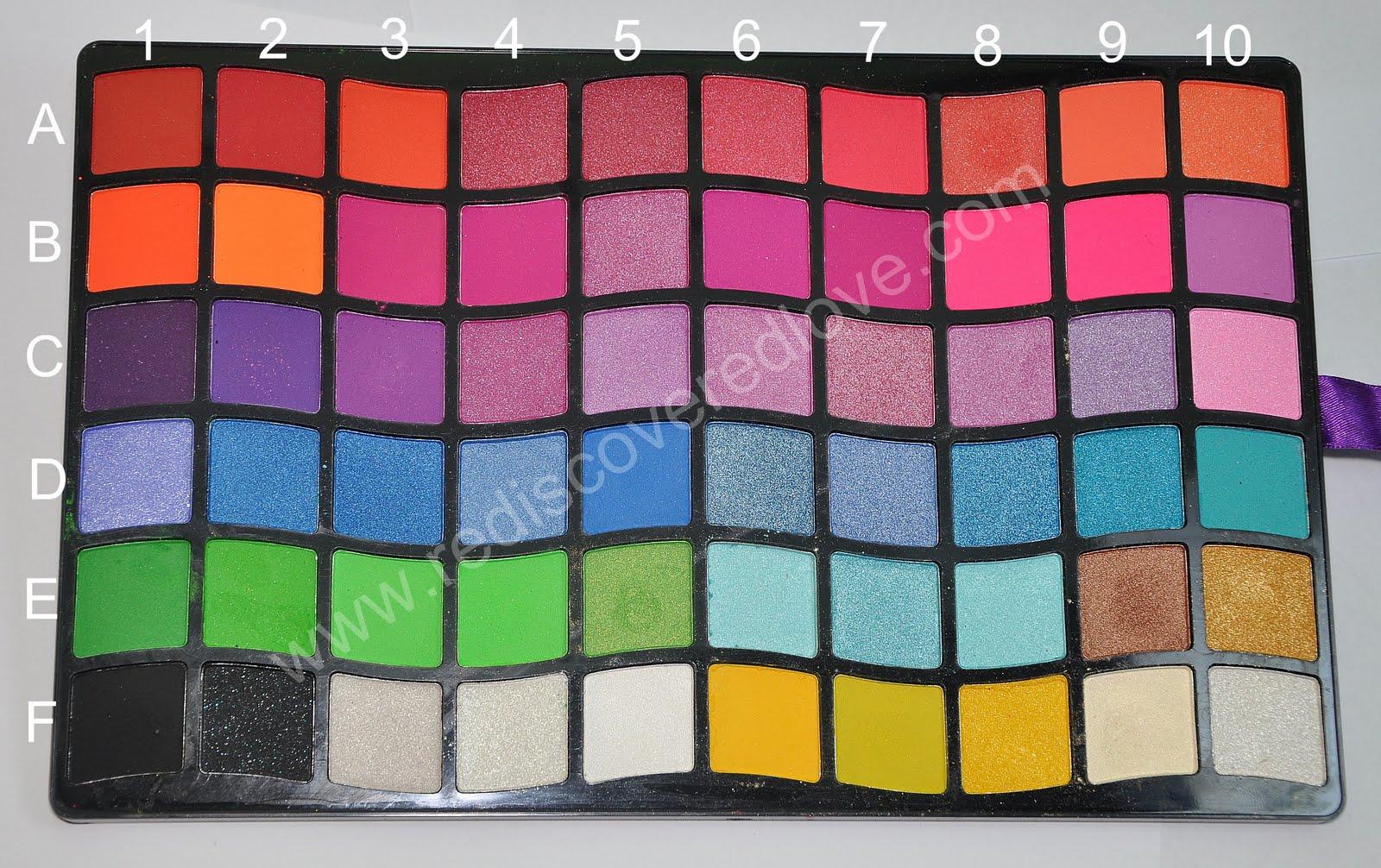 88 colors pallete in B2  neon