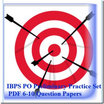 IBPS PO Preliminary Practice Set 6-10