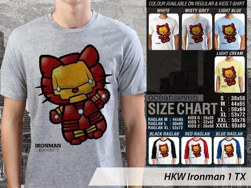 Jual Kaos kartun lucu Ironman 1 distro ocean seven