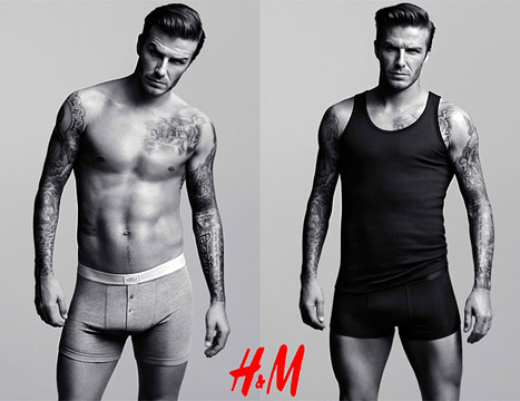 David Beckham for H&M in Super Bowl XLVI Commercial