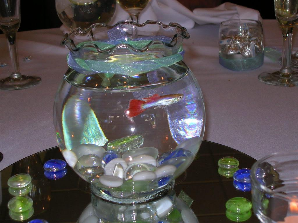 60 . table centerpiece - fish!
