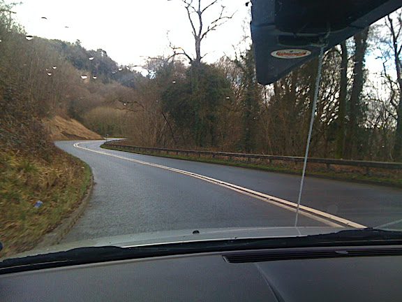 "En Route through the Wye Valley, ""Old Red"" on the roof rack..."
