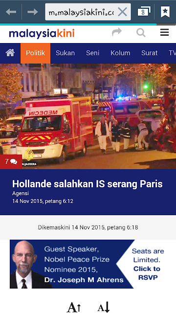 Serangan di Paris #prayforparis