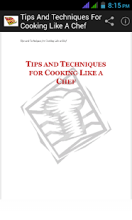 Technique For Cook Like A Chef - screenshot