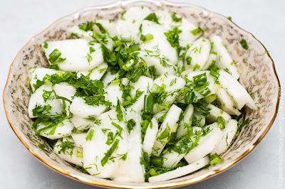 салат из белой редьки