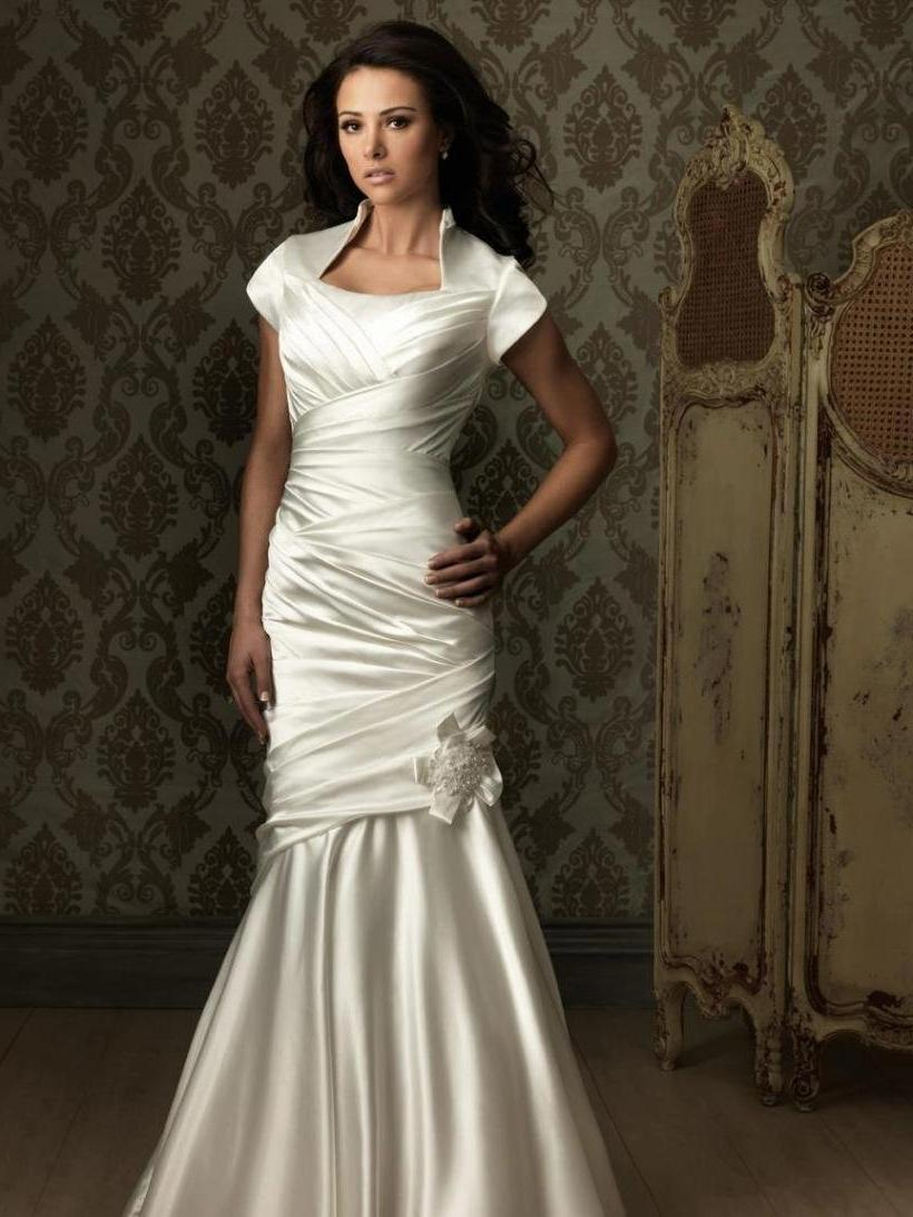 ruffles wedding dresses