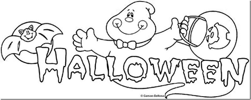 colorear cartel Halloween para niños - colorear tus dibujos