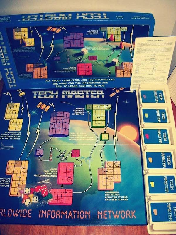 Tech Master Board Game Inside