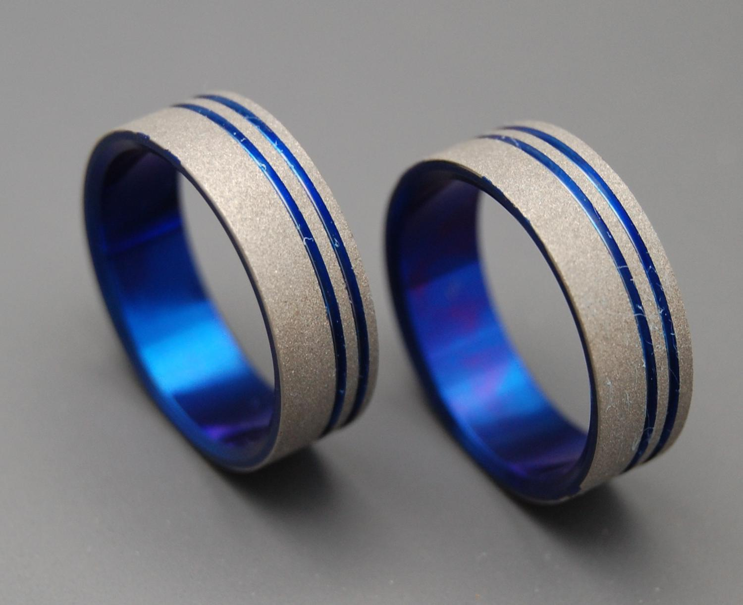 To The Future II - Titanium Wedding Bands. From MinterandRichterDes