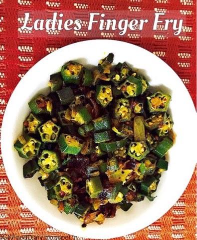 Ladies Finger Fry / Okra Fry / Bhindhi Fry