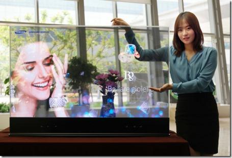 Samsungin läpinäkyvä OLED-paneeli