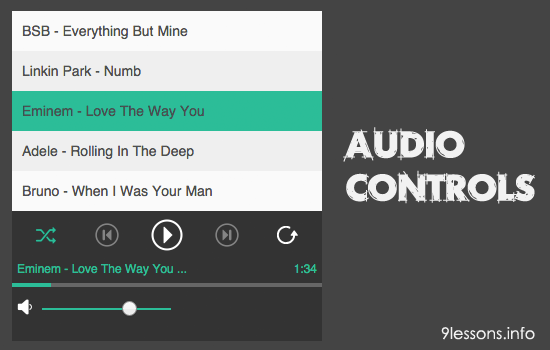 Custom Audio Player with Jquery Audio Controls Plugin