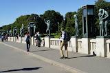De ingang / uitgang van Vigelandsparken