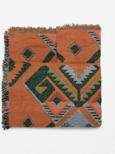 Pañuelo estampado geométrico de Zara