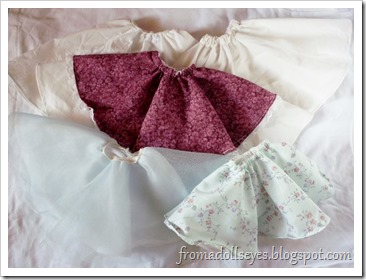 5 Ball Jointed Doll Sized Circle Skirts