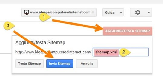 aggiungere-sitemap