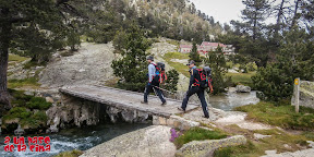 Último puente antes del Refugio de Wallon.