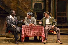 Seven Guitars TRTC 9-15 097<br />Seven Guitars, by August Wilson, directed by Brandon J. Dirden at Two River Theatre Company  9/11/15<br />Scenic Design: Michael Carnahan<br />Lighting Design: Driscoll Otto<br />Costume Design: Karen Perry<br /><br />© T Charles Erickson Photography<br />tcepix@comcast.net