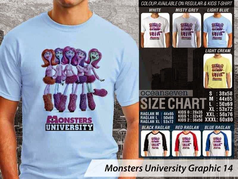 KAOS Monster University 24 Film Lucu distro ocean seven