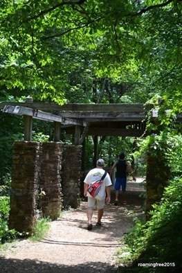 Pergola on the trail