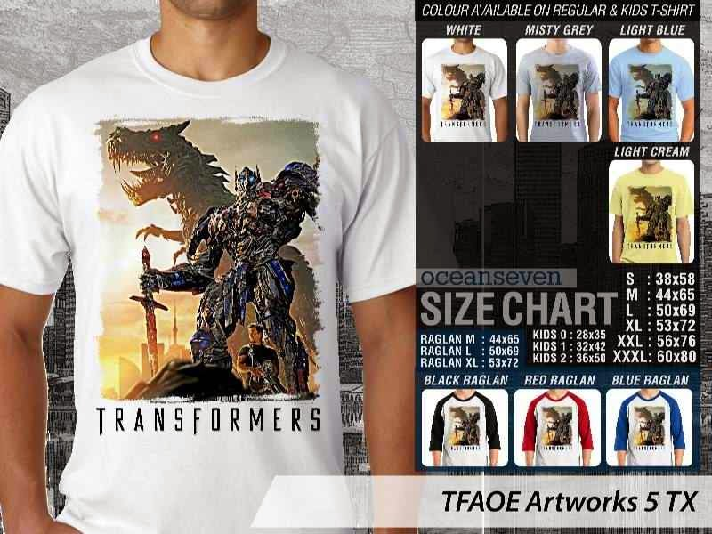 KAOS film Transformers Artworks 5 Transformers Age of Extinction distro ocean seven