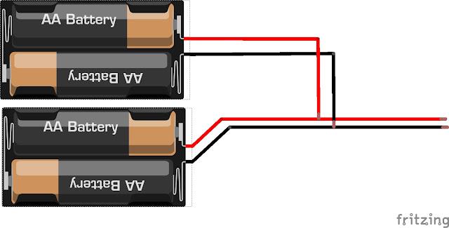 Dos portapilas en paralelo