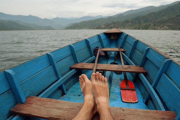 озеро фева лодка