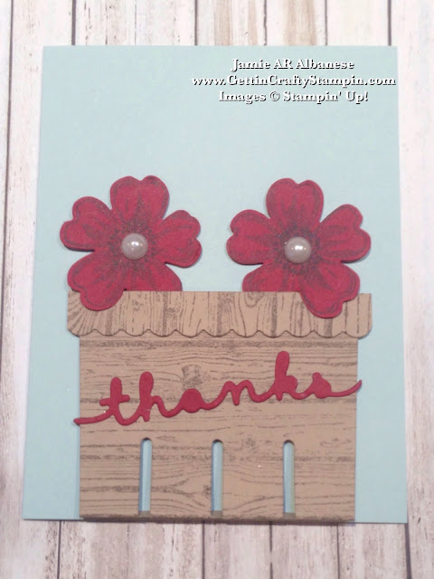 Getting crafty with jamie basket of thanks hand stamped card create this cute basket hand crafted card with m4hsunfo