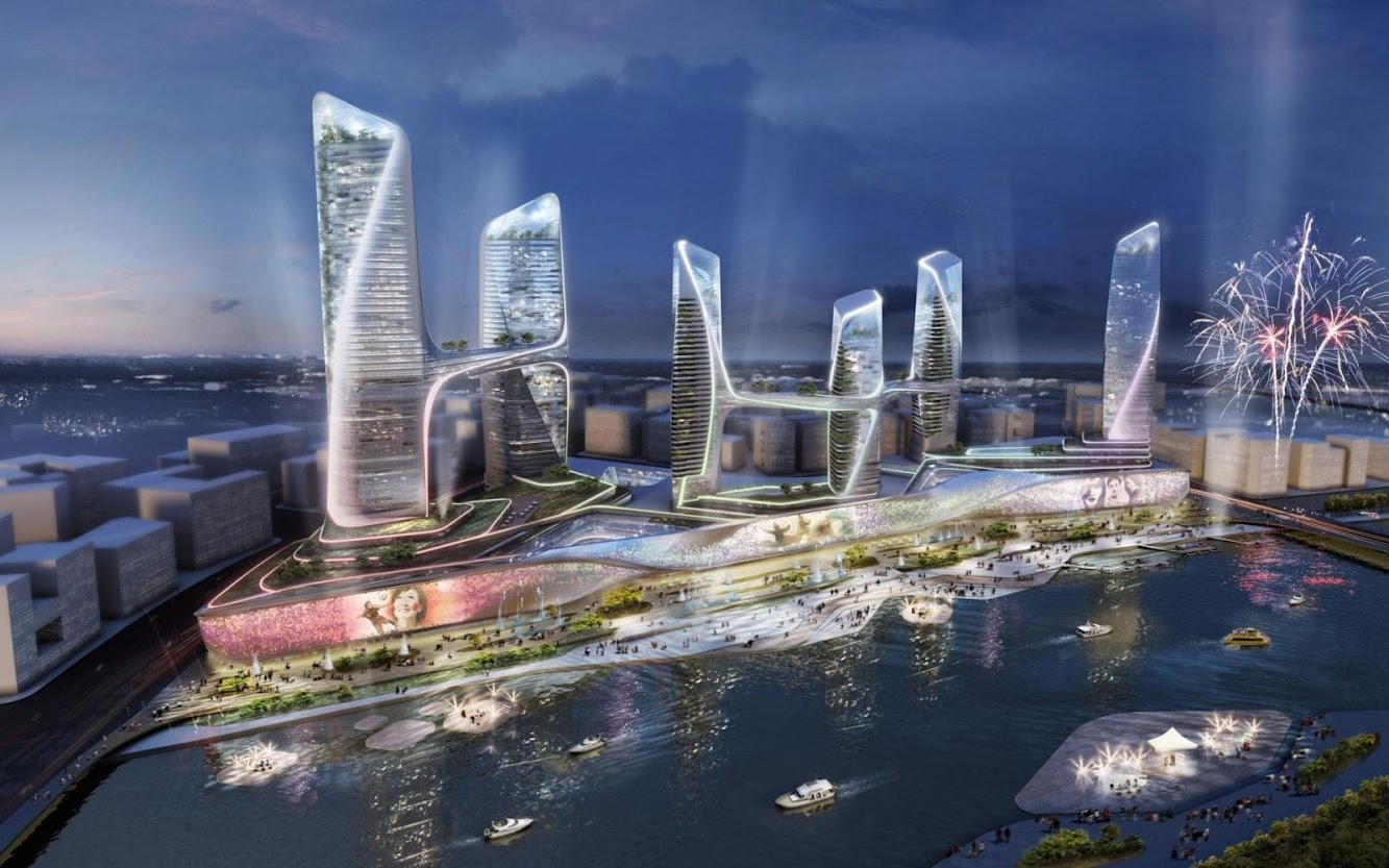 Tongzhou, Pechino, Cina: Central Business District by Unstudio