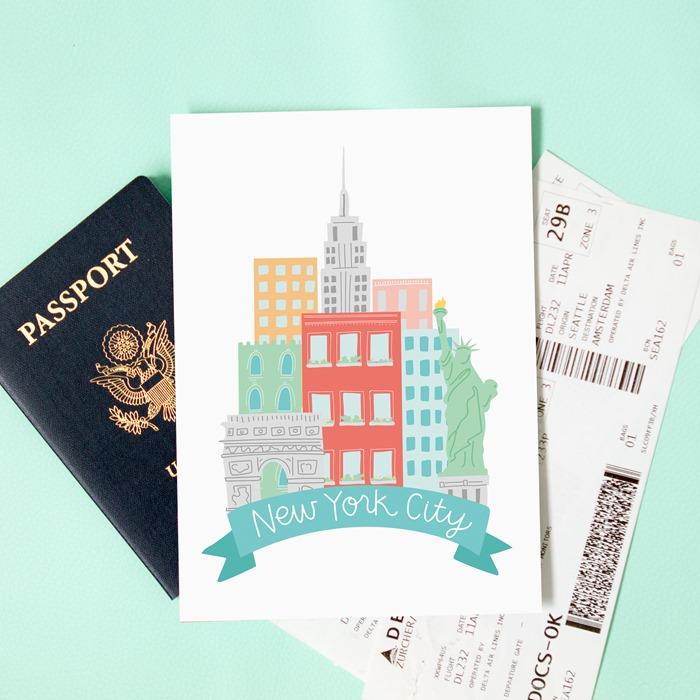 New York City Print Alexa Z Design