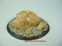 Broken skull idol desert ruins Fantasy war game terrain and scenery