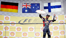 Daniel Ricciardo (AUS/ Infiniti Red Bull Racing with the trophy