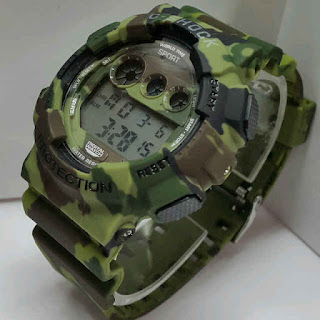jam tangan C-Shock digital Doreng hijau Army WR