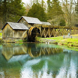 Mabry Mill by Travis Fraser - Buildings & Architecture Public & Historical ( water, mills, nature, blue ridge parkway )