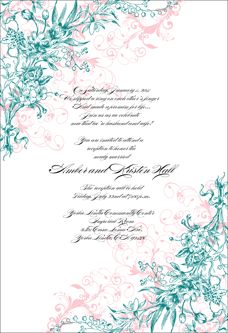 Wedding Invitations homemade