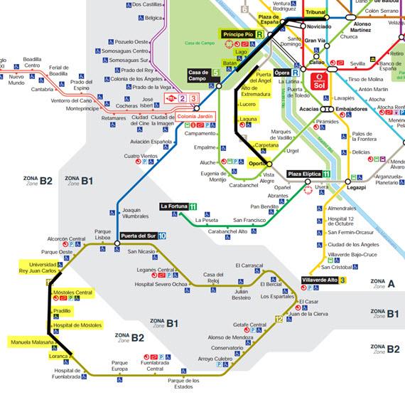 Obras en el Metro líneas 6, 10 y 12 en verano 2015