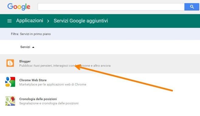 servizio-blogger-google-apps