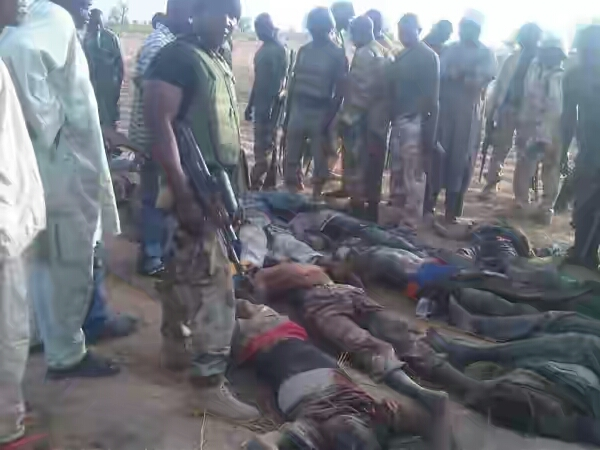 Graphic photo of slain bokoharam members