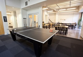 Ping pong and lunchroom good