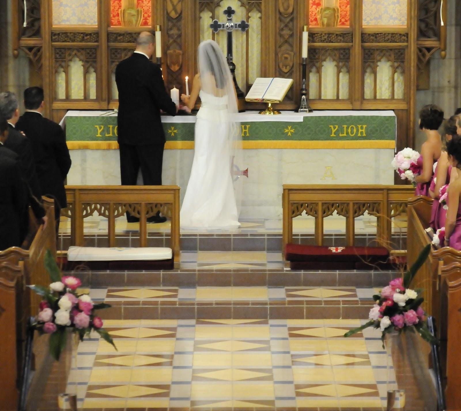 diy wedding church decorations