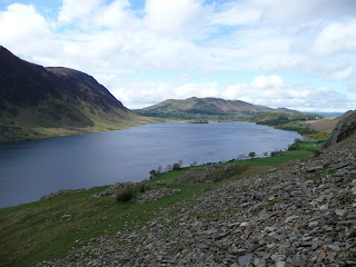 Crummock Water from start of ascent of Rannerdale Knotts