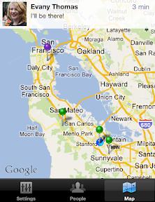Facebook messenger map