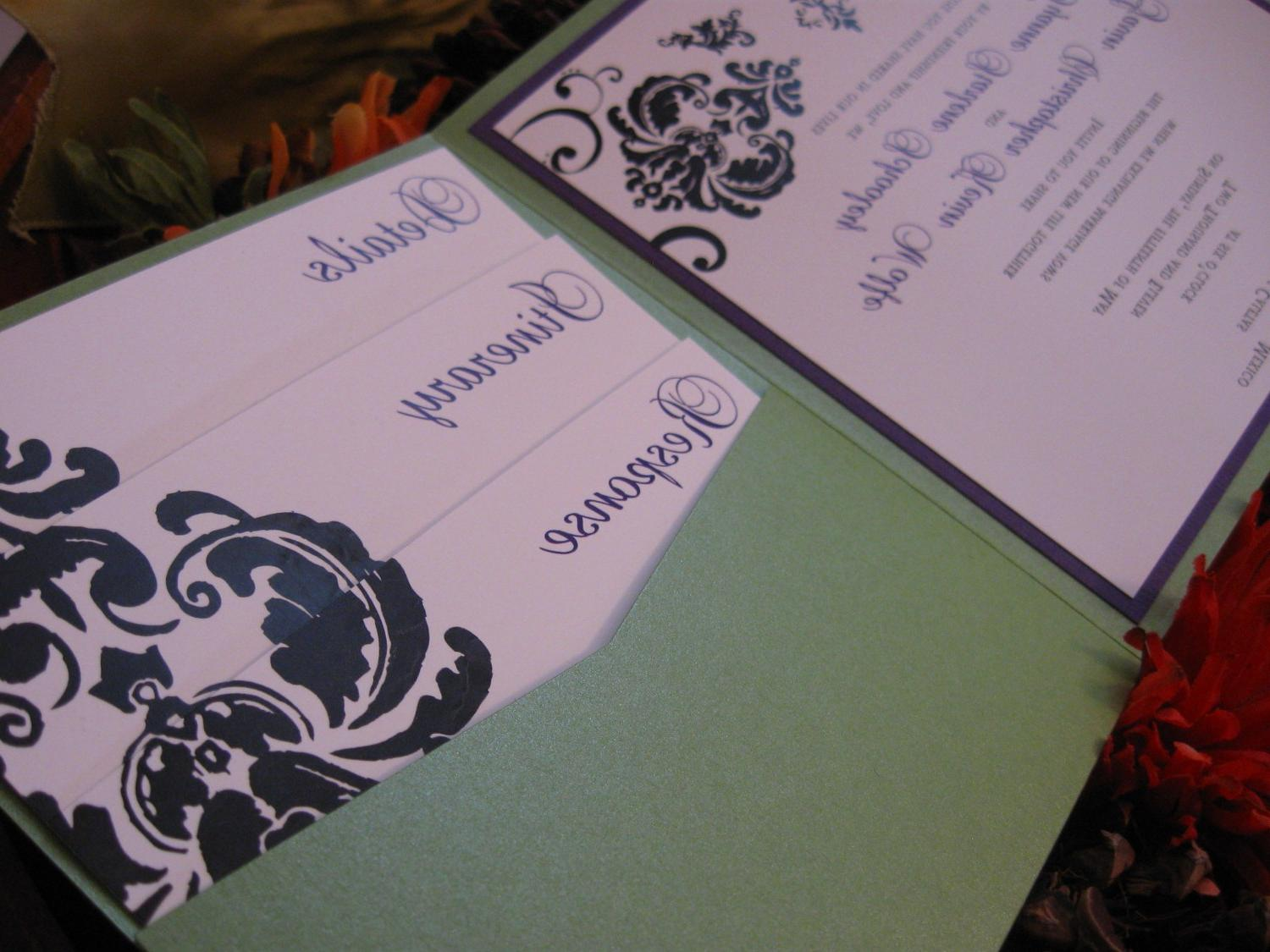 Damask Cascade Wedding
