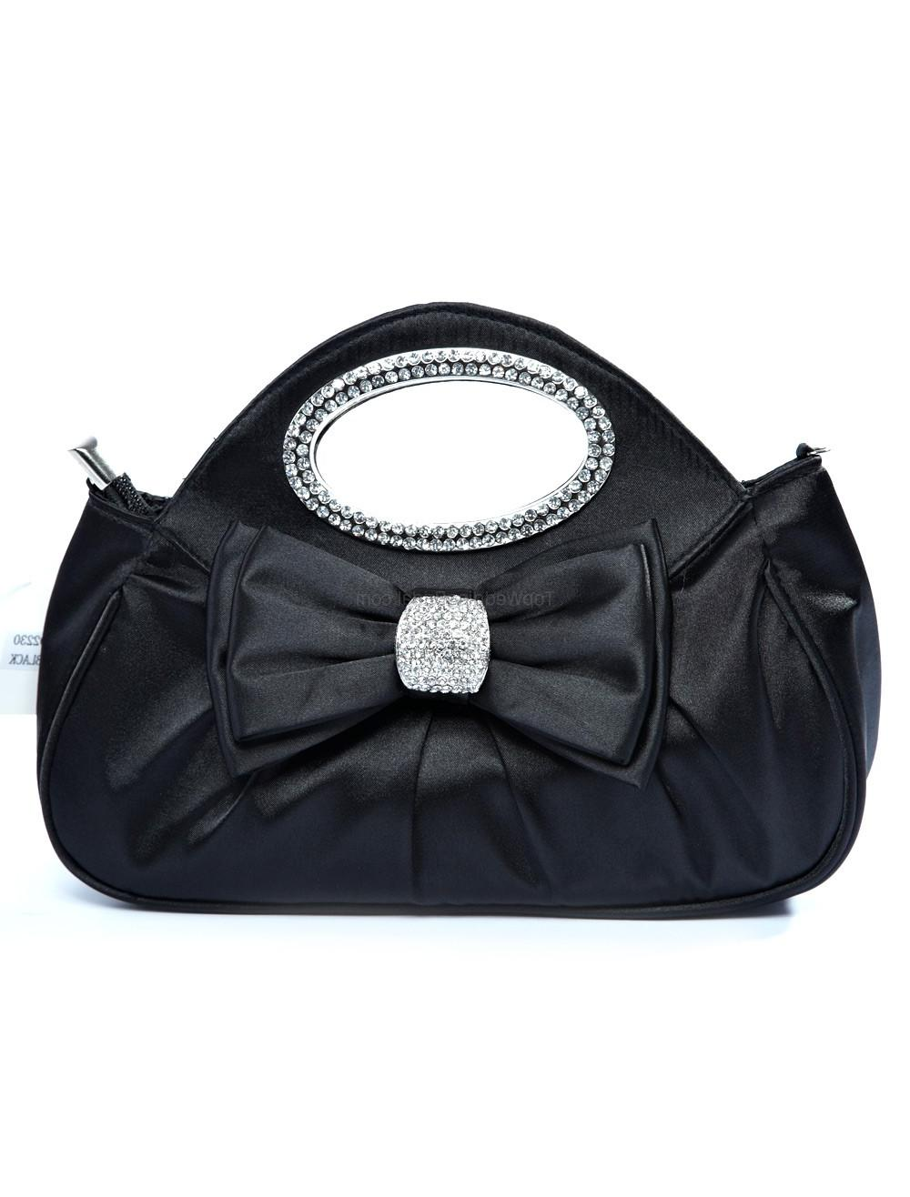 Hot 26 19cm Brocade Zipper Bow Ladies Special Occasion Handbag