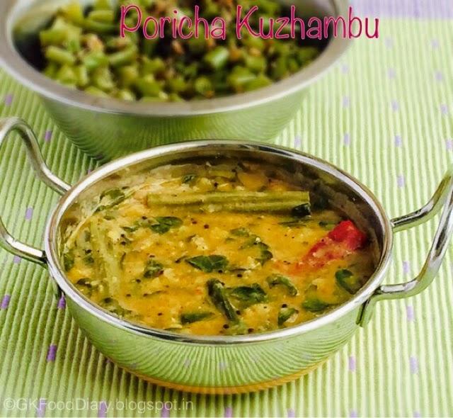 Poricha Kuzhambu Recipe with Drumstick leaves